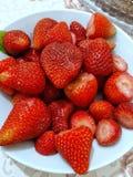 r?da jordgubbar arkivfoto