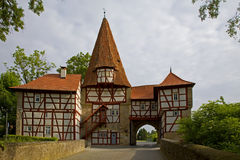 R�delseer Tor in Iphofen/ town gate Royalty Free Stock Photo
