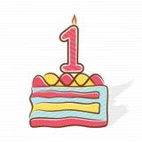 1r diseño del cumpleaños o del saludo del aniversario stock de ilustración