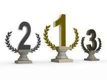 1r; 2do; 3ro premios Imágenes de archivo libres de regalías