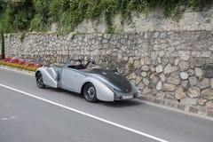 _r du sud du Tyrol Rallye 2016_Bugatti 57 C Kompressor Stelvio Cabrio Image libre de droits