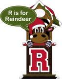 R est pour le renne Image libre de droits