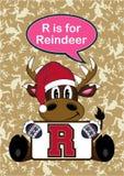R est pour le renne Photo stock
