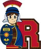 R est pour Roman Soldier Photos stock