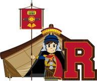R est pour Roman Soldier Photographie stock libre de droits