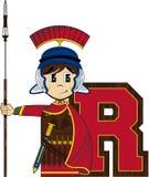 R est pour Roman Soldier Image stock