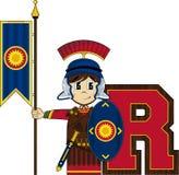 R est pour Roman Soldier Images libres de droits