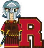 R est pour Roman Soldier Photographie stock
