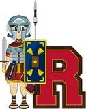 R est pour Roman Soldier Photo libre de droits