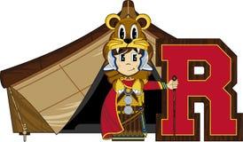 R est pour Roman Soldier Image libre de droits