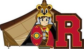 R est pour Roman Soldier Photo stock