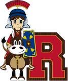 R est pour Roman Soldier Images stock