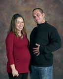 We-R-Expecting. Mother- and Father-to-be Royalty Free Stock Images