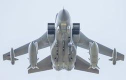 R.A.F.jaktflygplan med missiler royaltyfria bilder