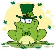 Râ feliz do leprechaun com fundo Imagens de Stock