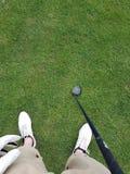 1r golf de la persona Imágenes de archivo libres de regalías