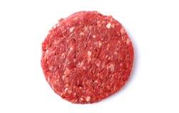 rå hamburgare Arkivbilder