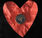 R Heart and Compass Stock Images
