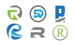 R het pak van het brievenembleem vector illustratie