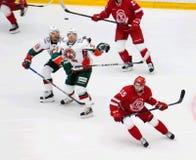 r Horak (15), A Lukoyanov (89) und D Khlystov (35) Lizenzfreies Stockfoto