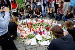 R.I.P. Michael Jackson - Prag Lizenzfreie Stockfotografie