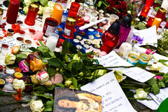 R.I.P. Michael Jackson - Praga Imagens de Stock