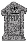 R.I.P. tombstone isolated Stock Photos
