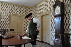 r Il caffè di Charlton in coloniale Williamsburg, la Virginia Fotografie Stock