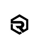 R initial icon button 2 business insurance abstract Stock Images