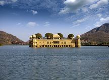 r Jaipur Παλάτι Jal Mahal νερού στοκ εικόνες