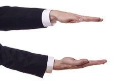 ręk biznesmena wzrosta przedstawienie Zdjęcie Stock