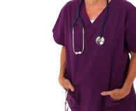 ręk lekarza kieszeni pozycja Fotografia Royalty Free