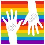 ręk samiec znak ilustracja wektor