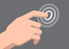 Ręka dotyka pointer - Wektorowa ilustracja Royalty Ilustracja