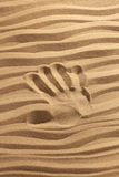 ręka druku piasku Zdjęcia Stock