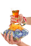 ręka żeński manicure obrazy stock