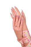 ręka żeński manicure zdjęcia royalty free