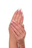 ręka żeński manicure fotografia stock