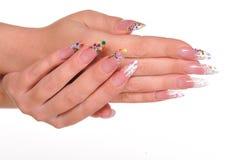 ręka żeński manicure zdjęcia stock