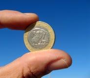 ręka euro fotografia stock