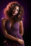 ręka frontu purpury przez Obraz Royalty Free
