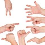 Ręka gest Zdjęcia Stock