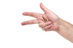 Ręka gest - trzy Zdjęcie Stock