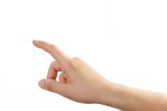 ręka gestu manicure kobiety Obrazy Royalty Free