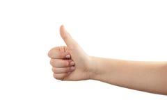 ręka gestu manicure kobiety Obraz Stock
