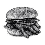 Ręka hamburger Fotografia Stock
