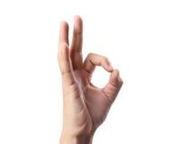 Ręka i OK Zdjęcie Stock