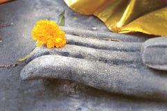 ręka jest buddha Obrazy Royalty Free