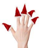 ręka kapeluszy Santa kobieta Obrazy Royalty Free