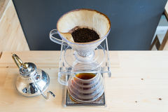 Ręka kapinosa kawa Zdjęcie Stock